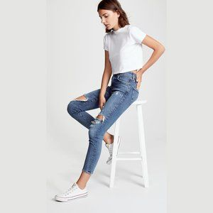 NWT Agolde high rise skinny crop ripped jeans, 31